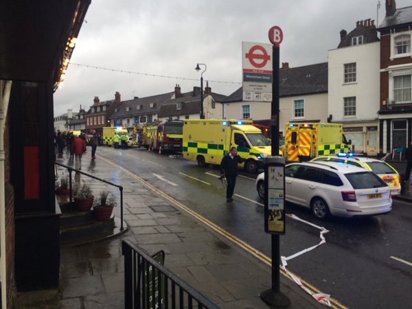 Several casualties as Audi drives into Costa Coffee packed full